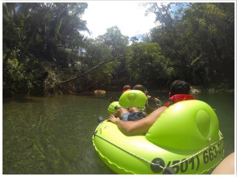 Belize cave tubing river float