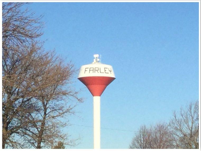Highway 20 Iowa Farley Water Tower
