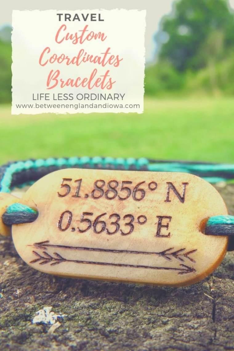 Custom Coordinates travel jewellery from Life Less Ordinary