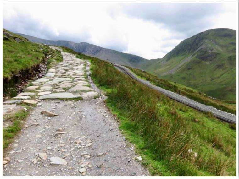 Llanberis Path Walking up Snowdon