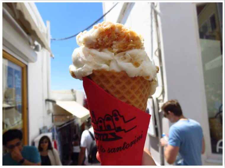 Baklava Ice Cream Fira Santorini
