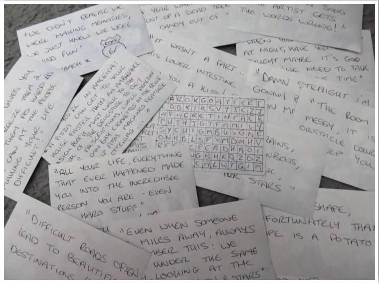 Open When Letter Topics