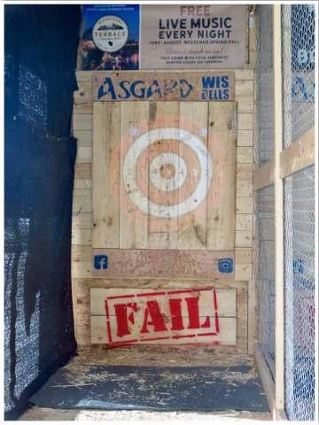 Asgard Axe Throwing Wisconsin Dells