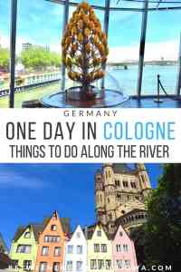 One day in Cologne Germany. Things to do along the river