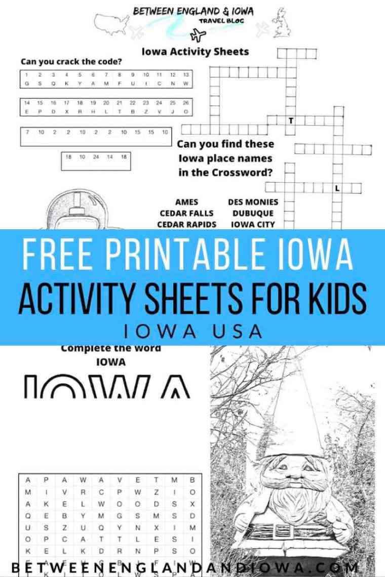 Free Iowa Activity Sheets for Kids