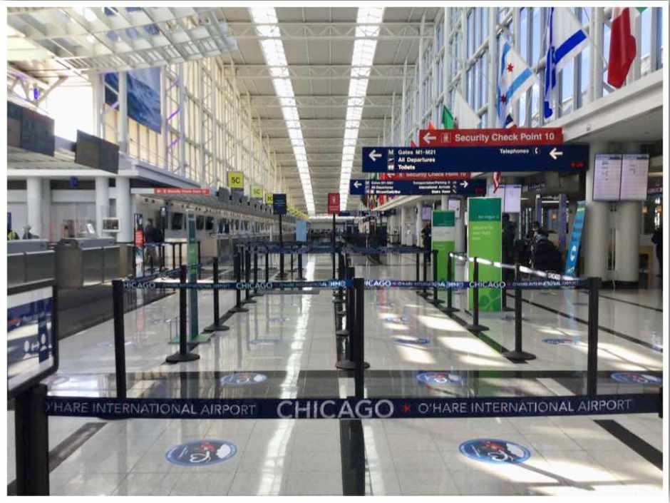 Chicago O'hare International Terminal 5 June 2020