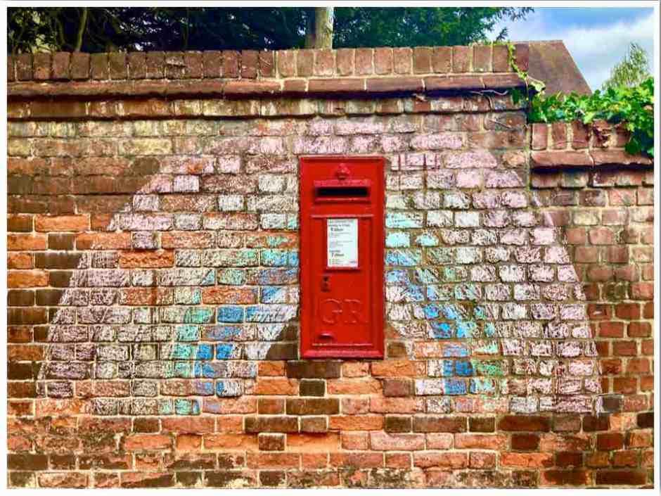NHS Rainbow Red Postbox Braintree Essex