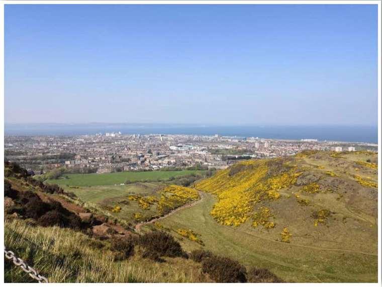 Arthurs Seat in Edinburgh Scotland