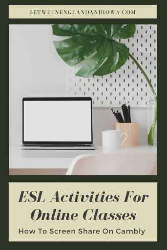 ESL Activities For Online Classes That Are Great For Screen Sharing