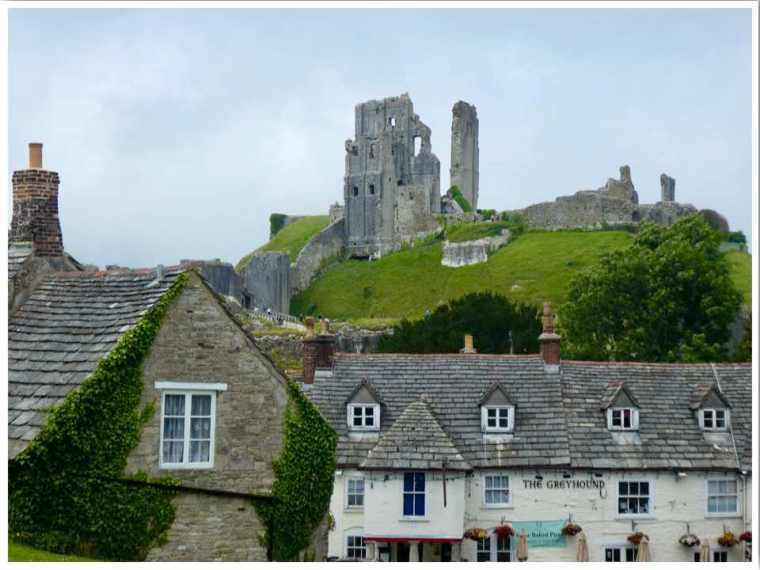 Corfe Castle Village Dorset UK