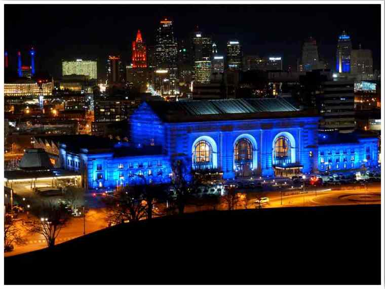Midwest Kansas City MO at Night by Vicky of Buddy the Traveling Monkey