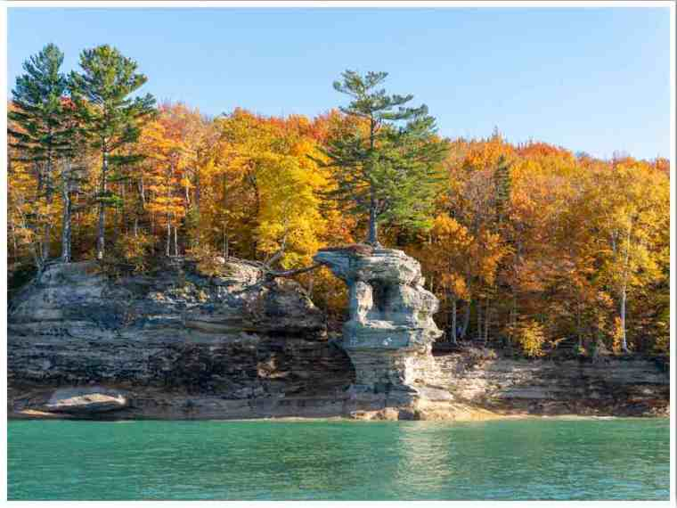 Pictured Rocks in Fall Michigan UP by Amanda
