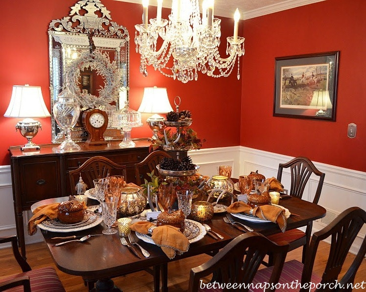 Dining Room Before And After: From Wallpaper To Paint