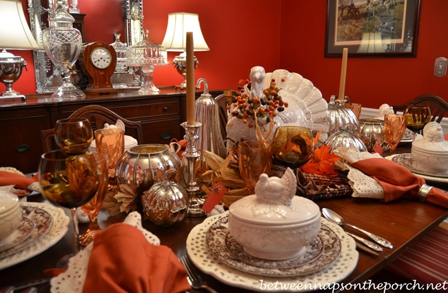 Thanksgiving Tablescape Table Setting With Pottery Barn