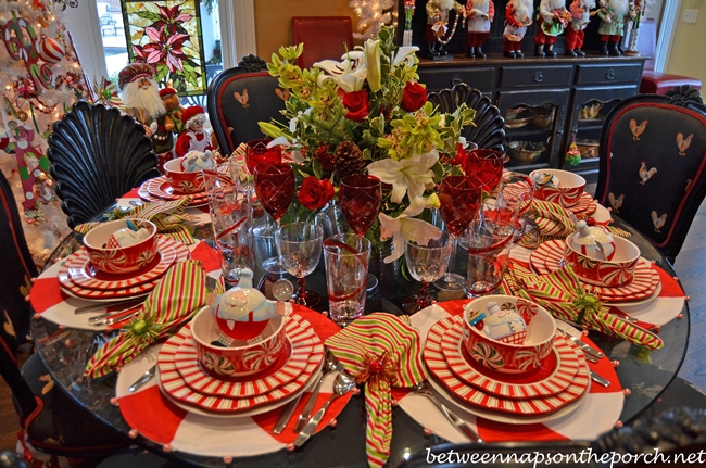 Christmas Table Settings, Tablescapes For A Formal Or