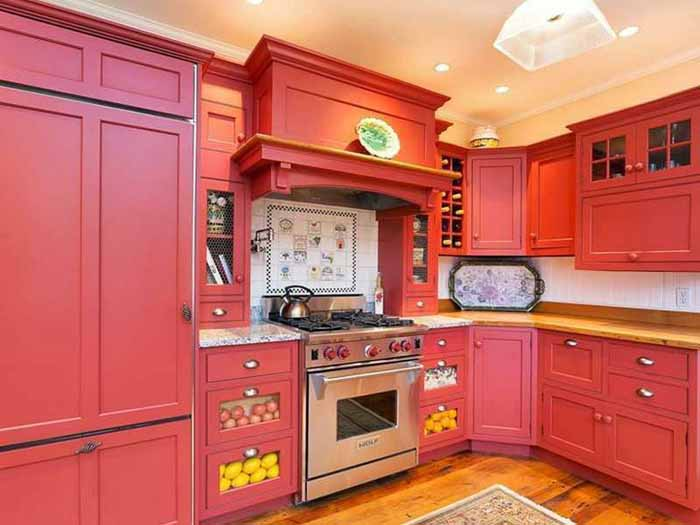 Red Cottage Kitchen