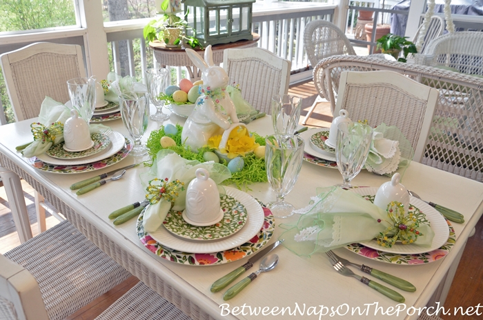 Spring Easter Table Setting With Spode Emma's Garland