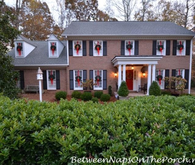 Wreaths On Exterior Windows For Christmas