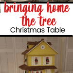 Bringing Home The Tree Christmas Table Setting Between Naps On The Porch