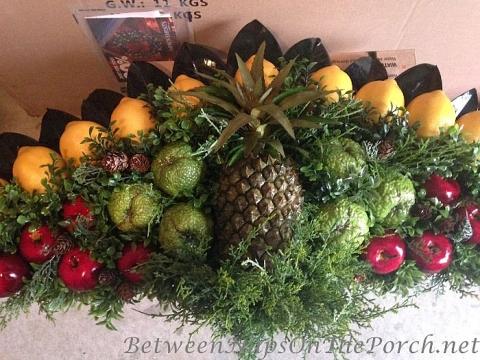 Diy Christmas Fruit Fan For Above Door Colonial Williamsburg