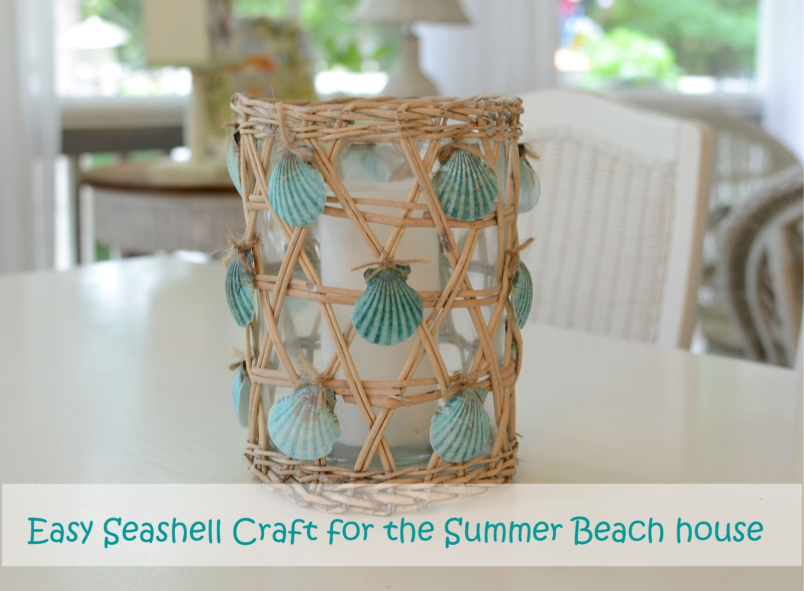 Seashell Craft For Nautical Beach House Decorating