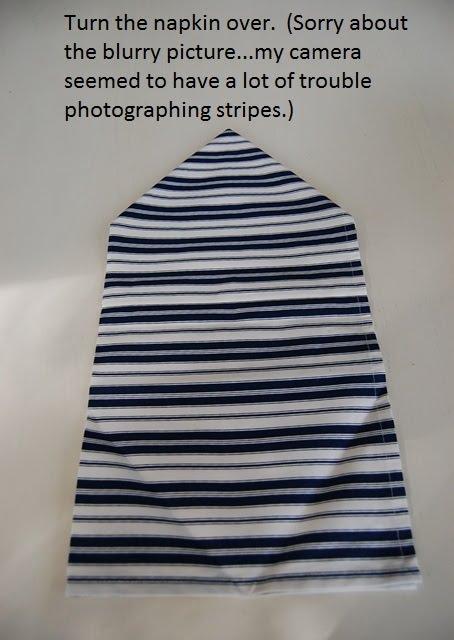 Napkin Folding Tutorial Double Sails