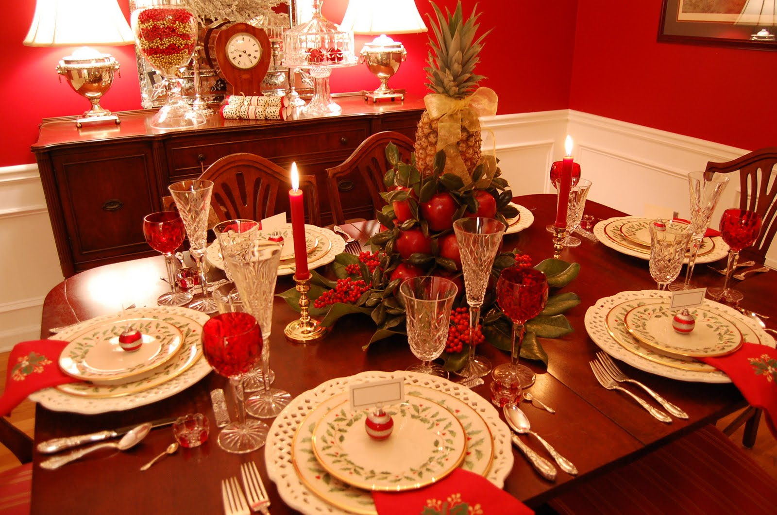 Christmas Tablescape With Lenox, Holiday And A Colonial