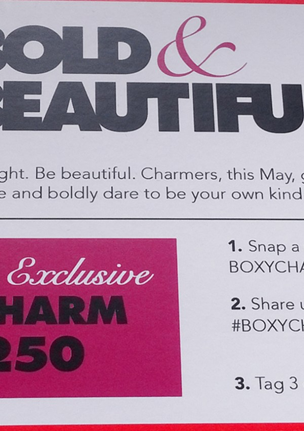 Review: May 2015 Boxycharm
