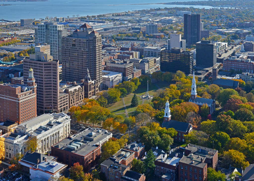 New Haven from above