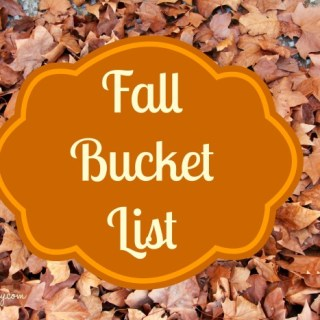 My (slightly irreverent) Fall Bucket List