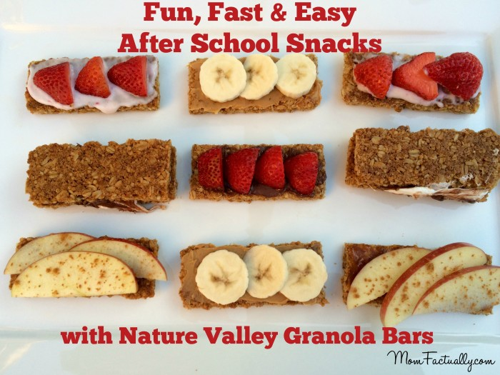 Fun, fast and easy after school snacks kids can make
