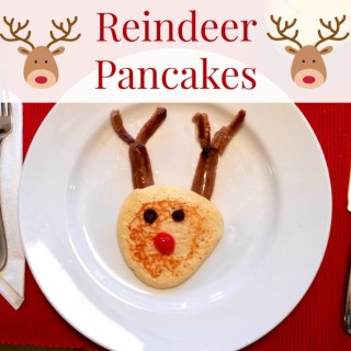 Reindeer pancakes are a cute and easy Christmas breakfast