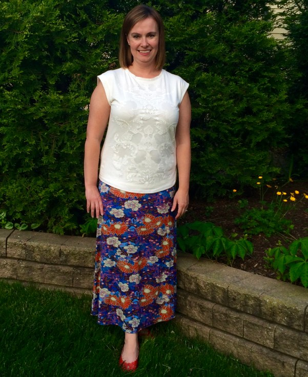 Deanne Printed Maxi Skirt Loveappella