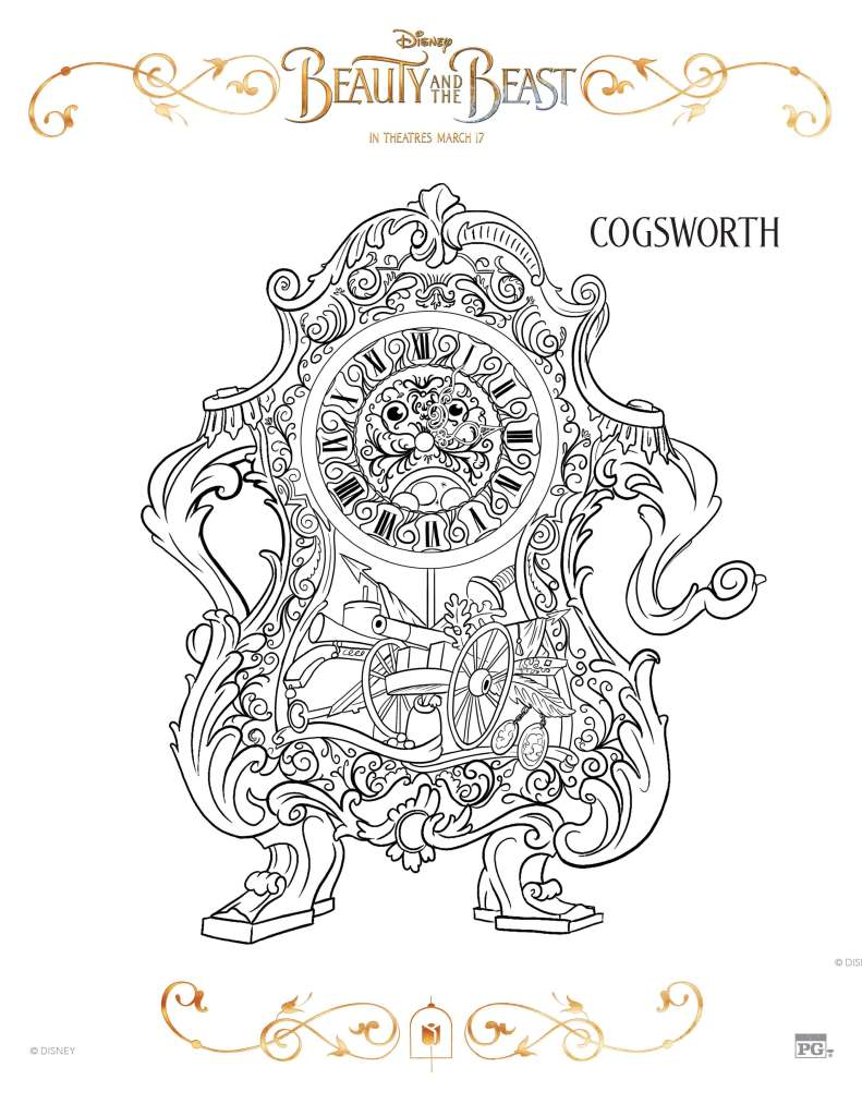 shine some light on lumiere with this coloring page