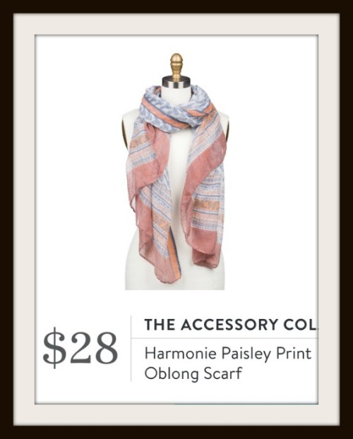 The Accessory Collective Harmonie Paisley Print Oblong Scarf