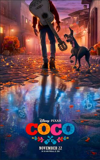 The official poster for Coco, a Disney-Pixar film coming out November 22, 2017
