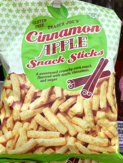 Cinnamon apple snack sticks from Trader Joe's