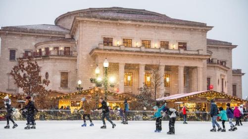 Ice skating at Carmel Christkindlmarkt