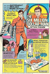 6 million dollar man toy comic advert