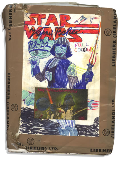 Cover of my homemade Star Wars comic adaptation of 1977-1983