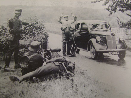 Irish free-state army checkpoint photo