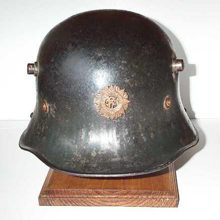 m1927 helmet front view