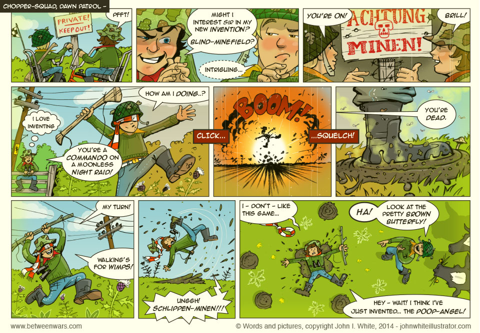 The kids try out Jacks fab new game. Cor, it's ace! In this 1970s Comic