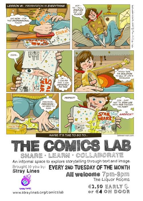 Comic Lab poster by John White