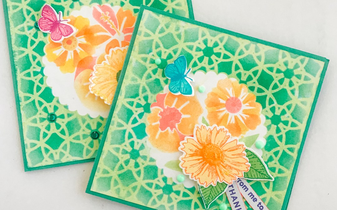 Layering Stencils, Stamps, Ink Oh My!