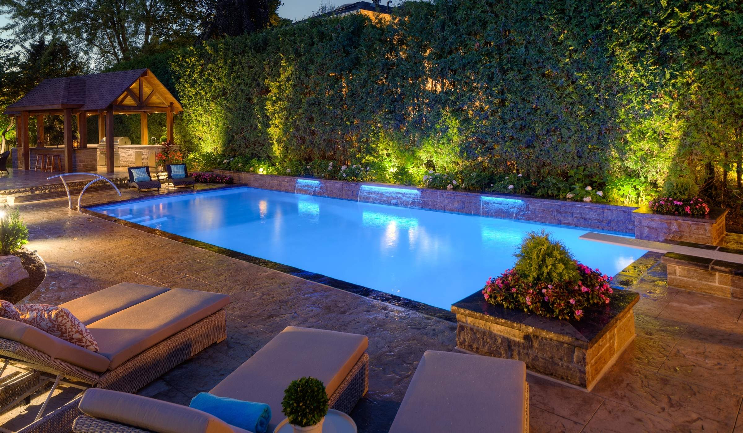 Landscape & Pool Lighting : Betz Pools on Backyard Pool Landscape Designs id=60851