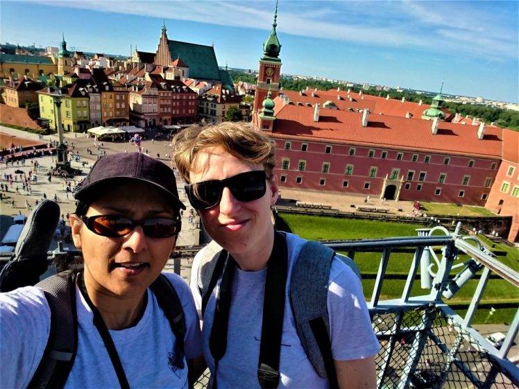 Bev & Shams in Warsaw Poland - Things to do in Warsaw