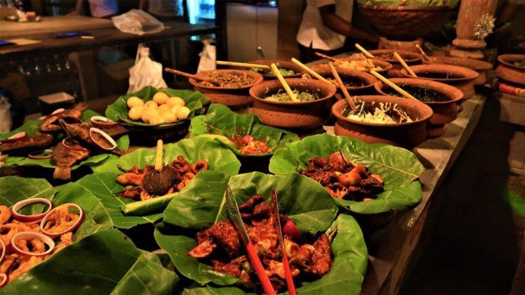 A selection of the staple food at Nelum Kole Sri Lanka