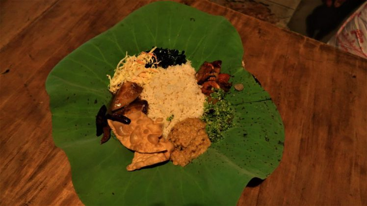 Our rice and curry at Nelum Kole