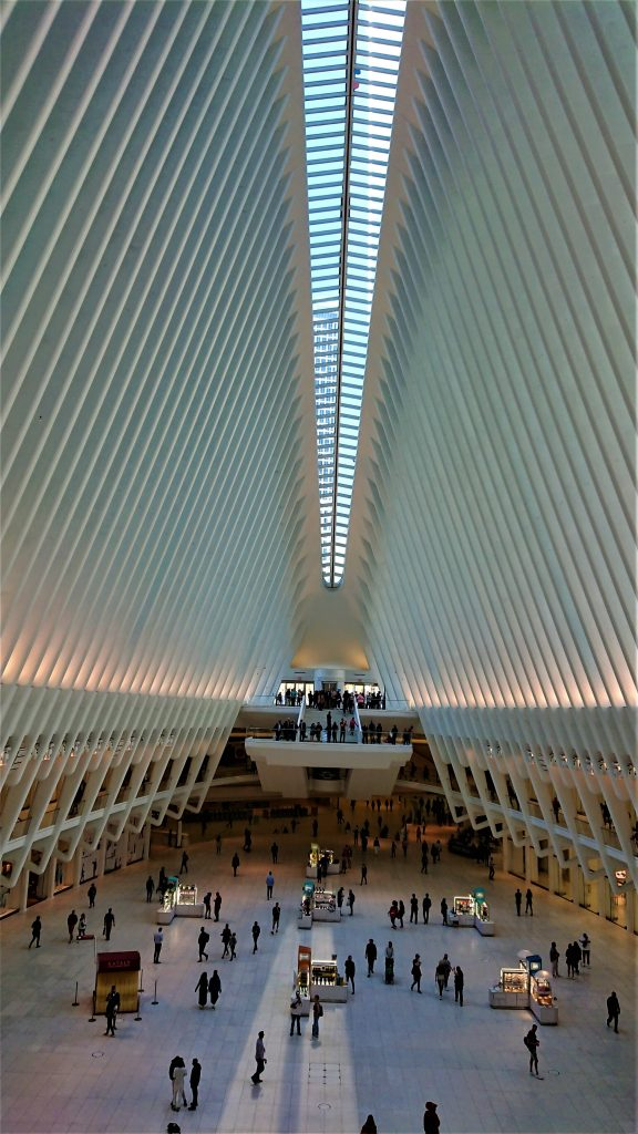 Visiting the Oculus is one of the free things to do in New York City